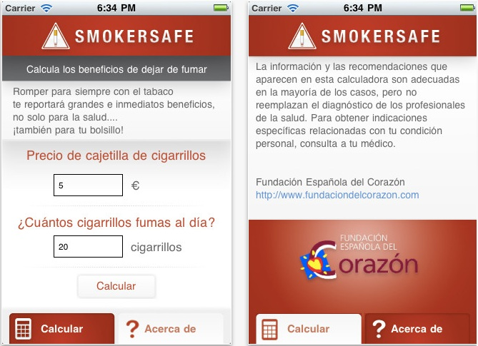 App iPhone SmokerSafe