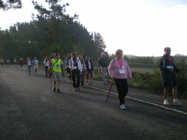 Los peregrinos se apoderan de la carretera