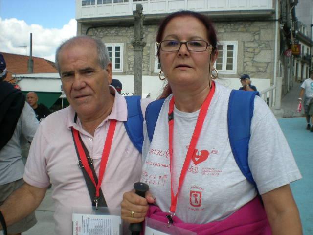 María Antonia y su marido en Palas de Rei